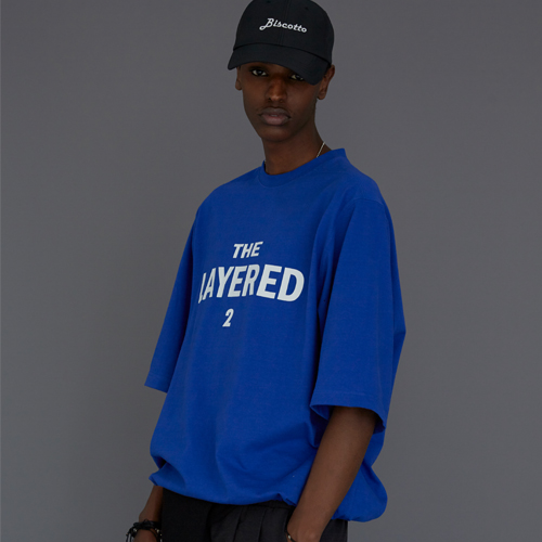 【LE`2】THE LAYERED 2 T-SHIRT BLUE レトゥ ザレイヤード2 Tシャツ ブルー