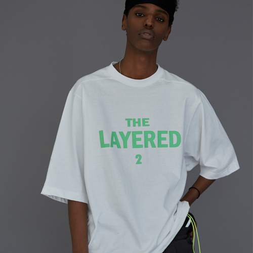 【LE`2】THE LAYERED 2 T-SHIRT WHITE レトゥ ザレイヤード2 Tシャツ ホワイト